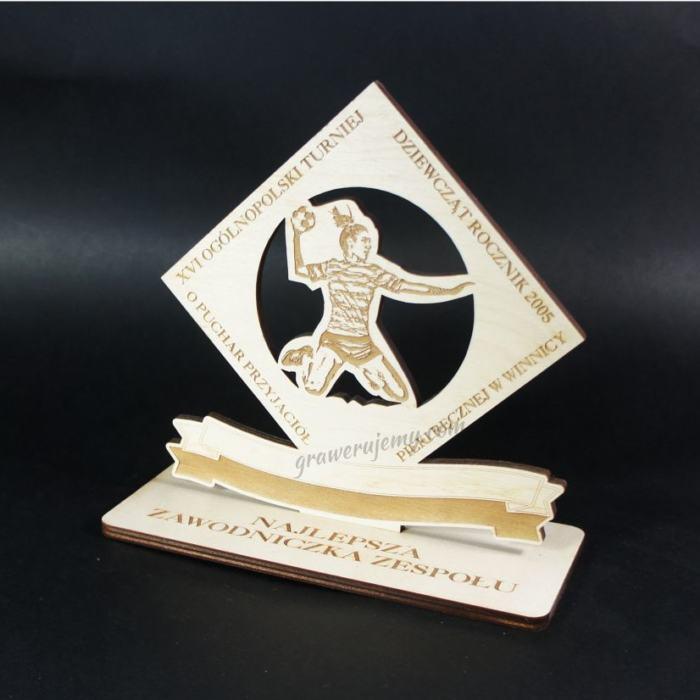 Statuetka Puchar drewniany 93 Turniej Piłki ręcznej