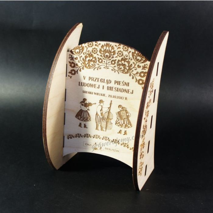 Statuetka Puchar drewniany 95 Przegląd pieśni ludowej