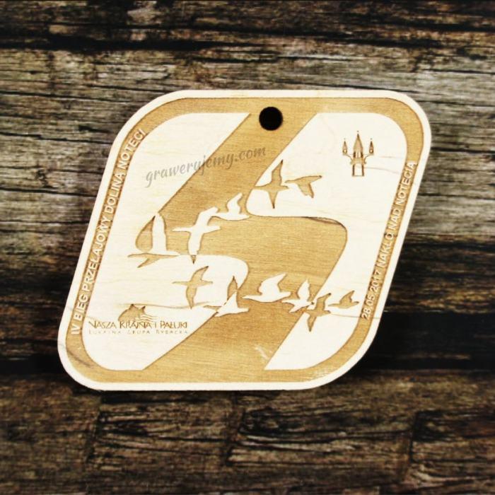 Medal drewniany 291 - Bieg przełajowy