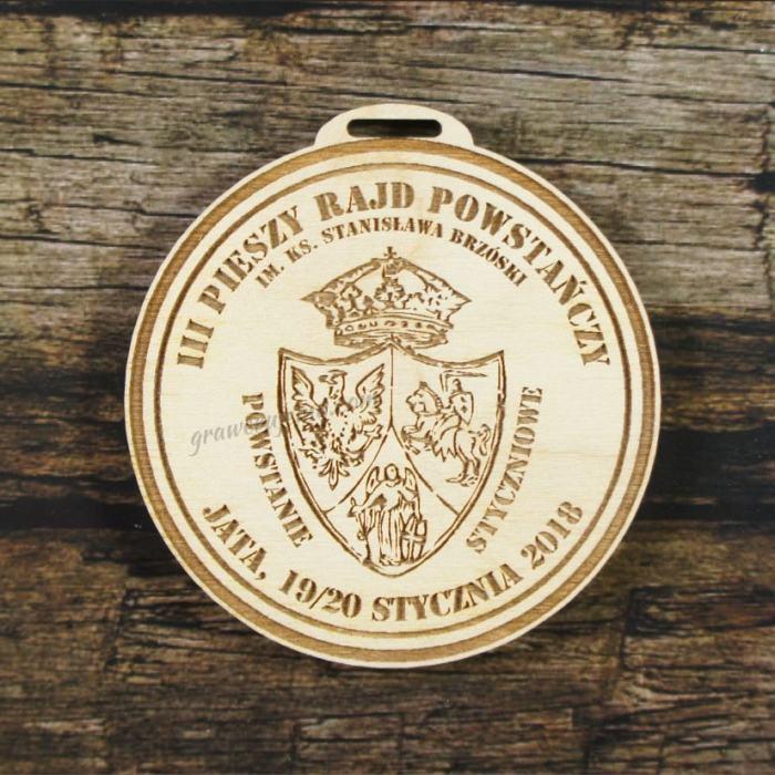 Medal drewniany 295 - Pieszy rajd powstańczy