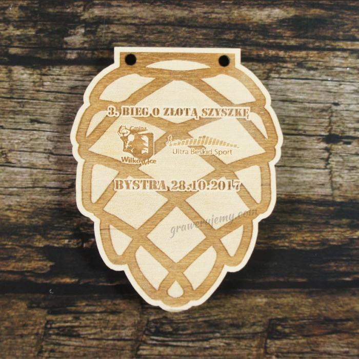 Medal drewniany 296 - Bieg o złotą szyszkę
