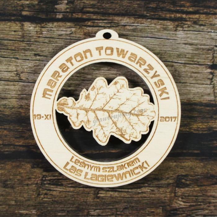 Medal drewniany 299 - Maraton Towarzyski