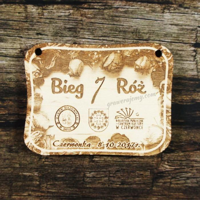 Medal drewniany 303 - Bieg 7 róż