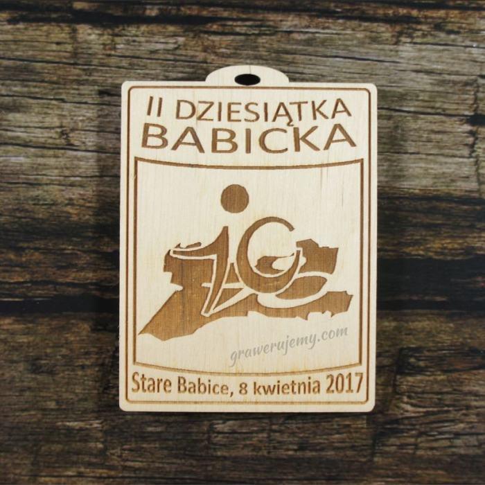 Medal drewniany 306 - Dziesiątka babicka