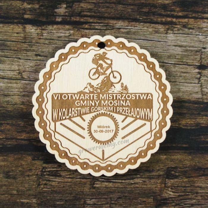 Medal drewniany 307 - Kolarstwo górskie przełajowe