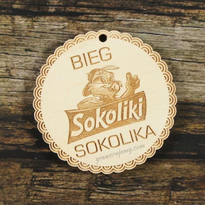 Medal drewniany 313 - Bieg Sokolika