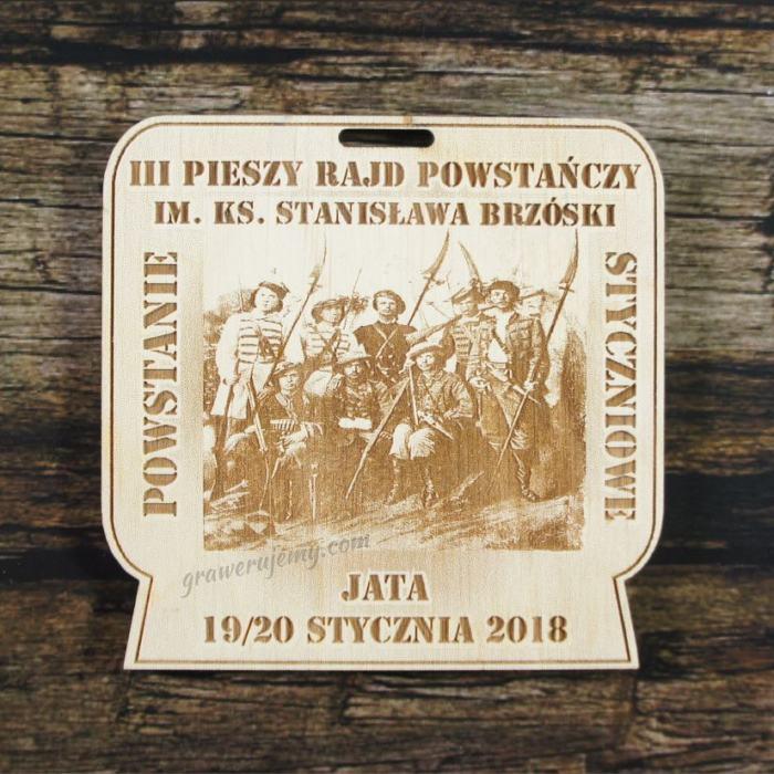 Medal drewniany 322 - Rajd powstańczy
