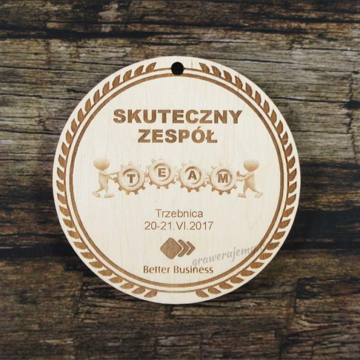 Medal drewniany 323 - Skuteczny zespół