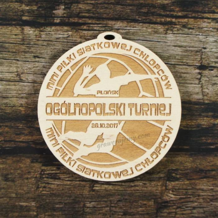 Medal drewniany 325 - Turniej piłki siatkowej