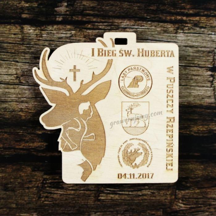 Medal drewniany 326 - Bieg św. Huberta