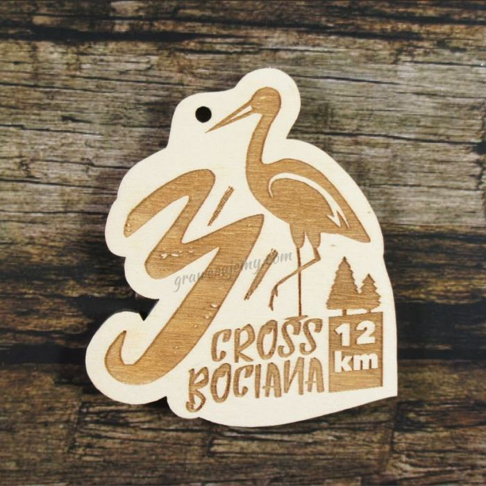 Medal drewniany 327 - Cross Bociana