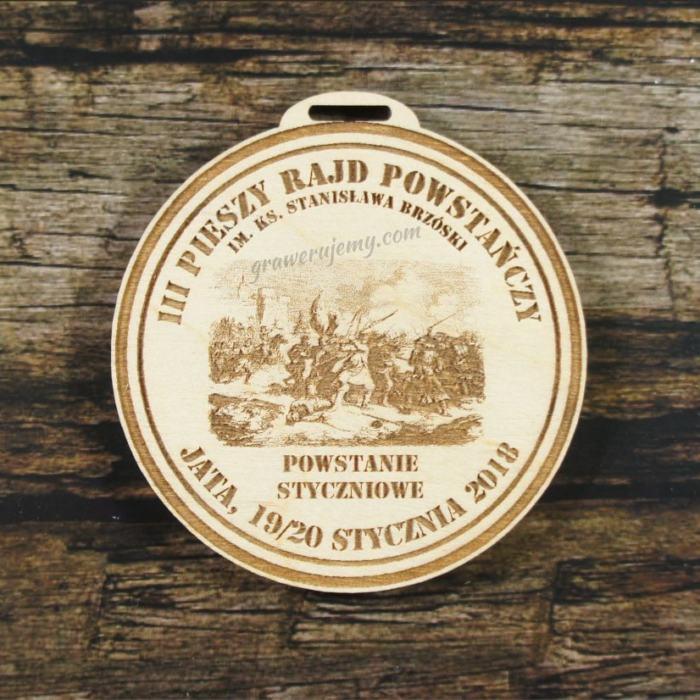 Medal drewniany 328 - Rajd powstańczy