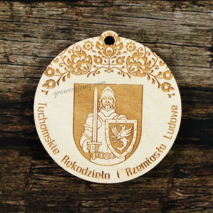 Medal drewniany 338 - Tuchomskie Rękodzieło i Rzemiosło