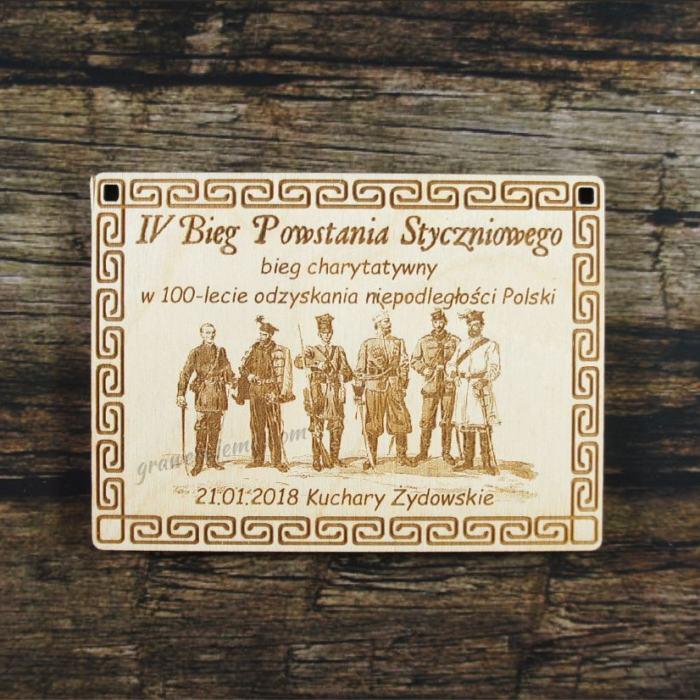 Medal drewniany 339 - Bieg Powstania Styczniowego