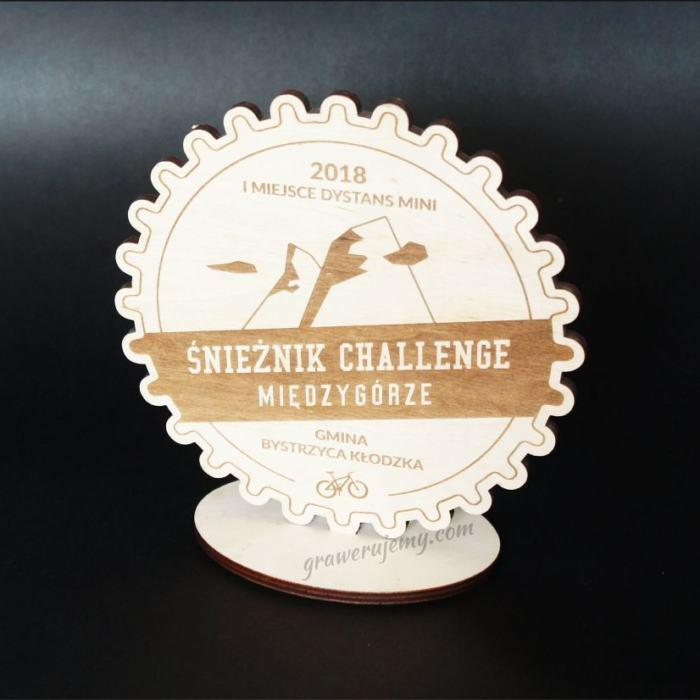 Statuetka Puchar drewniany 108 Śnieżnik challenge