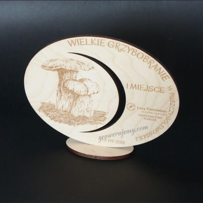Statuetka Puchar drewniany 110 Grzybobranie