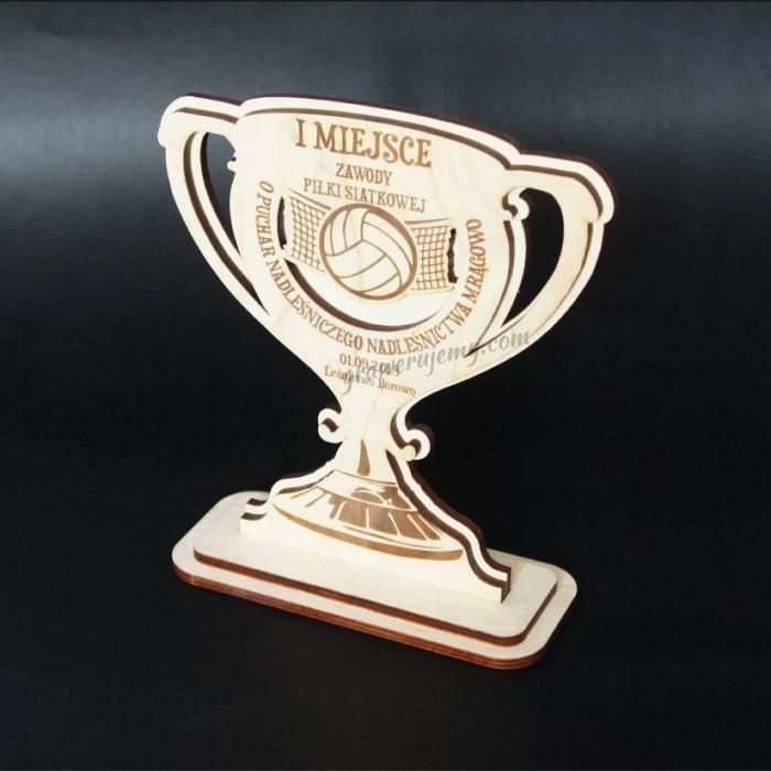Statuetka Puchar drewniany 111 Zawody siatkówka
