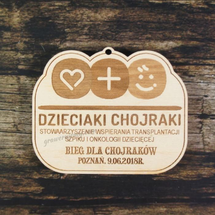 Medal drewniany 340 Bieg dla chojraków