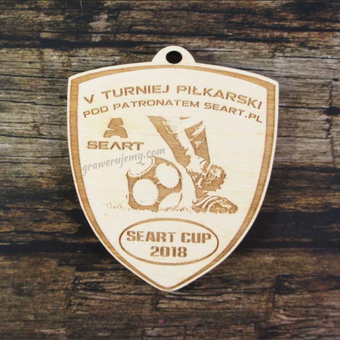 Medal drewniany 342 Turniej Piłkarski