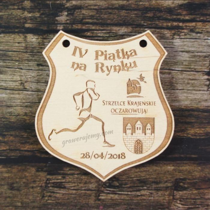 Medal drewniany 343 Piątka na Rynku