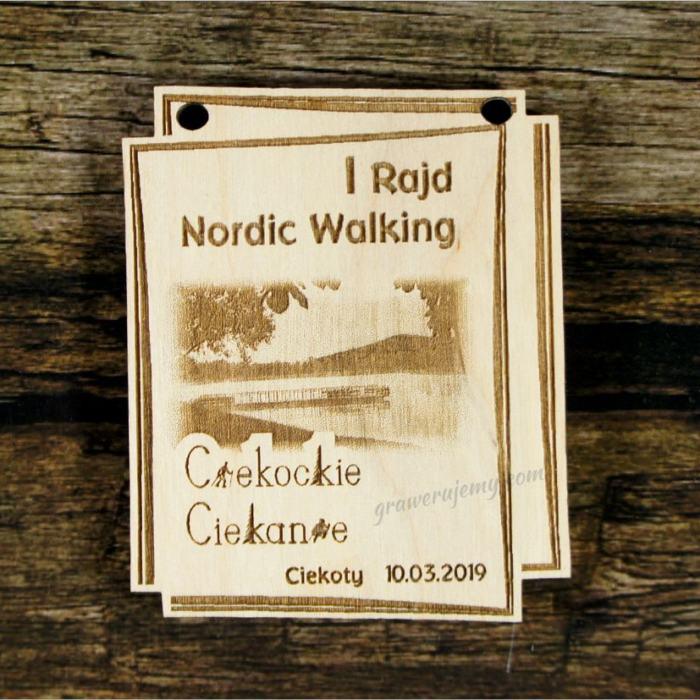 Medal drewniany 431 Nordic Walking