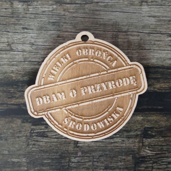 Medal drewniany 366 dbam o przyrodę