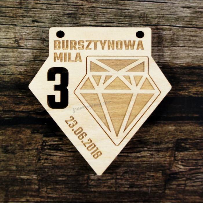 Medal drewniany 391 Bursztynowa Mila