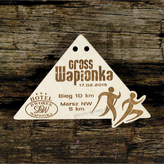 Medal drewniany 428 cross wapionka