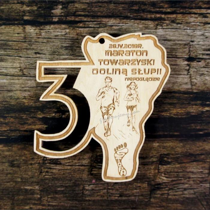 Medal drewniany 400 Maraton towarzyski