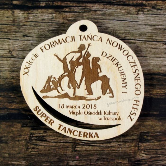 Medal drewniany 404 Super tancerka