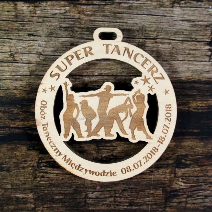 Medal drewniany 411 Super Tancerz