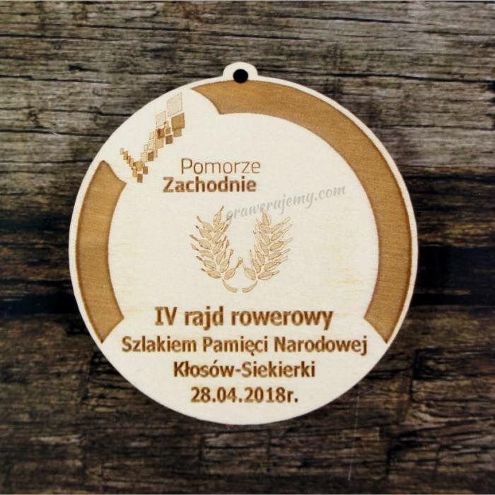 Medal drewniany 425 Rajd rowerowy
